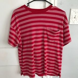 Red and white striped t-shirt